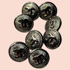 8 vintage Chanel buttons 11 mm
