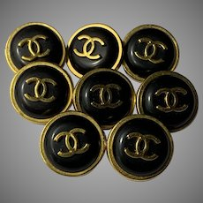 8 Chanel buttons black 16 mm