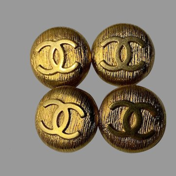 4 extra large vintage Chanel buttons 1 inch