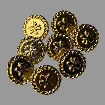 8 vintage Chanel buttons 13,8  mm