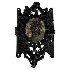Antique Berlin Iron Cameo clasp