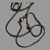 French Antique 800-900 silver guard muff chain lorgnette