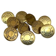 Vintage French 10 Hermes buttons 0,47 inch
