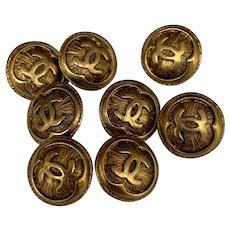 8 vintage  Chanel buttons 0,5inch