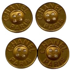 4 vintage  Chanel buttons 0,62 inch