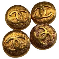 4 extra large vintage Chanel buttons 0,9  inch