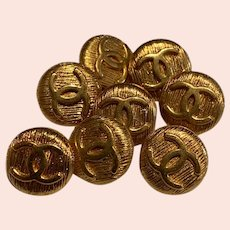 8 vintage  Chanel buttons 0,54 inch