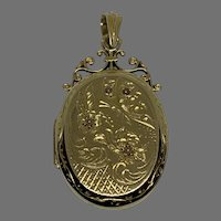 Antique French 18 K gold Seed Pearl Locket
