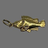 Vintage French 18 K gold Fish Charm