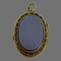Antique French Agate 18 K gold Double sided locket