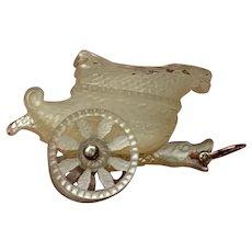 Georgian  Snake  Head Chariot charm