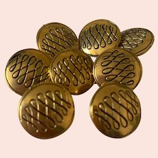 8 vintage  Chanel buttons 0,7 inch