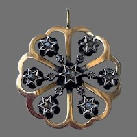 Antique diamond Star 18 K gold Pendant