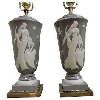 Pair Of Deco Table Lamps