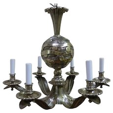 French Art Deco Chandelier Circa 1930's