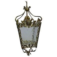 French Brass Lantern Chandelier