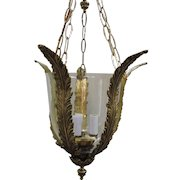 Brass Hall Light Made In Spain