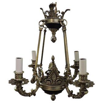 Four Light Spanish Empire Chandelier