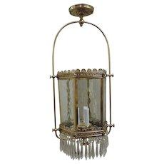 Gas Hall Lantern Converted Circa 1880's