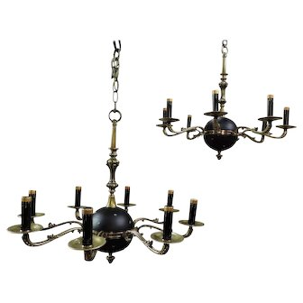 Rare Pair Of Empire Chandeliers