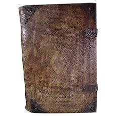 1729 German Martin Luther Bible vellum binding woodcut illustrations