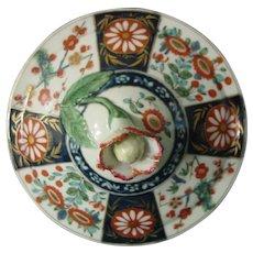 Worcester Sugar Bowl Lid, Queen's Pattern 18thc (B)