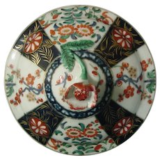 Worcester Sugar Bowl Lid in the Queen's Pattern 18thc. (C)