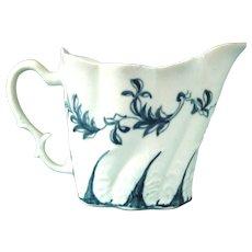 Pennington Factory, Liverpool. Antique 18thc. Blue and White Porcelain Creamer, c.1770.