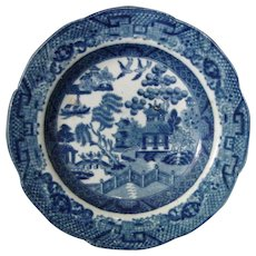 Staffordshire Blue Willow Pearlware Miniature Plate C1840