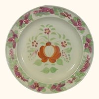 Queen's Rose Molded Plate with Luster Decoration C.1830.