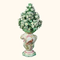 Derby Flower Urn Decorated with Exotic Birds C.1760