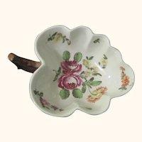Antique Vienna Leaf-Shaped Porcelain Sweetmeat Dish c.1770