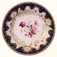 English Porcelain Small Plate, Perhaps Minton, c.1820.