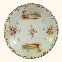 Alcock Porcelain Plate with Landscapes C.1835.