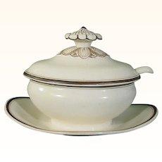 Wedgwood Creamware Tureen on Stand & Original Ladle c.1795