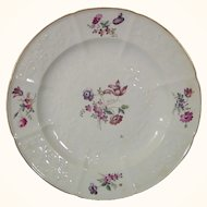 Bone China Plate in the Chelsea Style Mid-19thc.