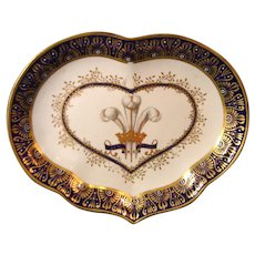 Important Pair of 18th Century Derby Porcelain Dessert Dishes Made for the Prince of Wales, Later King George IV c.1788.