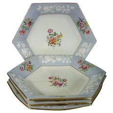 4 Spode Pattern 2194 Soup Bowls C.1830.