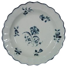 Pair of Caughley Plates, Hand Painted, Not Printed, with the Gillyflower or Carnation Pattern c.1780.