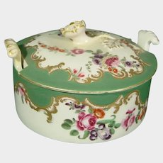 Worcester Butter Dish in the Marchioness of Huntley Pattern C1770 Antique Porcelain 18th.