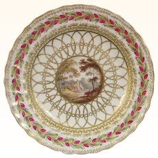 Two Derby Plates of Chatsworth Service Type c.1790, Possibly Painted by George Robertson