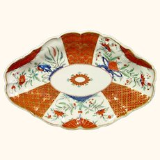 Caughley Dessert Dish Decorated at the Chamberlain Factory in Worcester, C1790