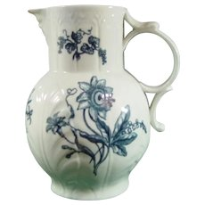 Worcester Pitcher with Carnation & Passion Flower Decoration C.1770