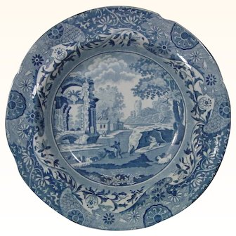 John Mare Plate, a Copy of Spode's Italian Pattern c.1820.