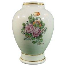 Very Rare Antique Capodimonte Carlo III 18th Century Italian Porcelain Vase c.1755