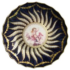 Chelsea Derby Plate by Fidelle Duvivier C.1770.
