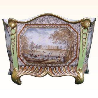 Antique Coalport Porcelain Bough Pot Decorated in London
