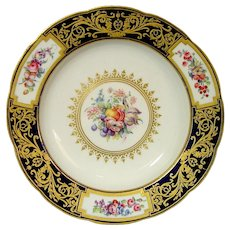 Sevres Soup Plate Dated 1787 Aranda Service