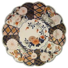 Chelsea Plate in an Imari Pattern C.1755 18th Century Porcelain