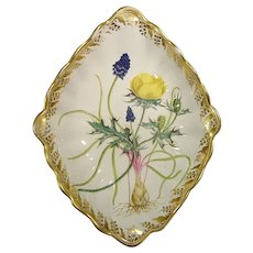 Important Derby Quaker Pegg Compote with Botanical Decoration C.1790.